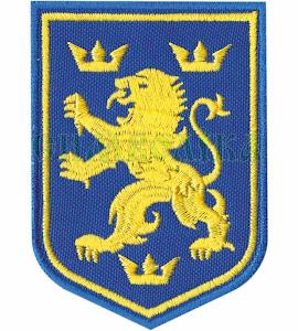 Лев дивізійник/тк.синя нитка жовта/  нарукавна емблема