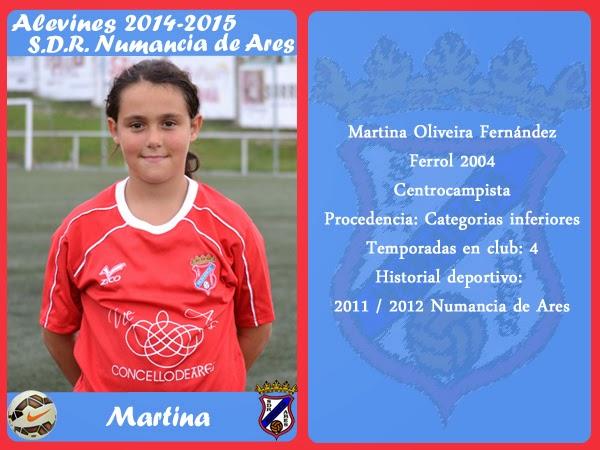 MARTINA, xogadora do equipo alevín do Numancia de Ares.
