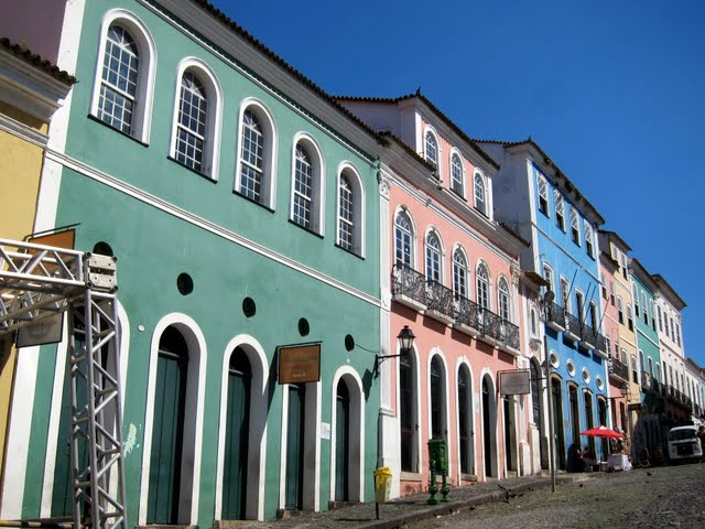 Colorful buildings in Salvador Brazil