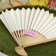 White folding hand fans