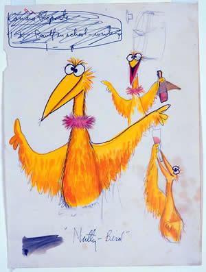Uno de los bocetos de Jim Henson expuestos en Nueva York