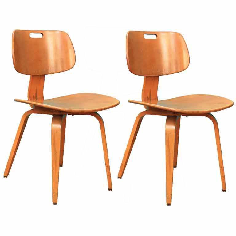 2 From A Set Of 6 Mid Century Chairs By Thornet, Available From;  Www.nyshowplace.com