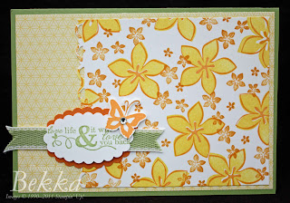 Stampin' Up! Cottage Garden Flowers 2 Step Stamped