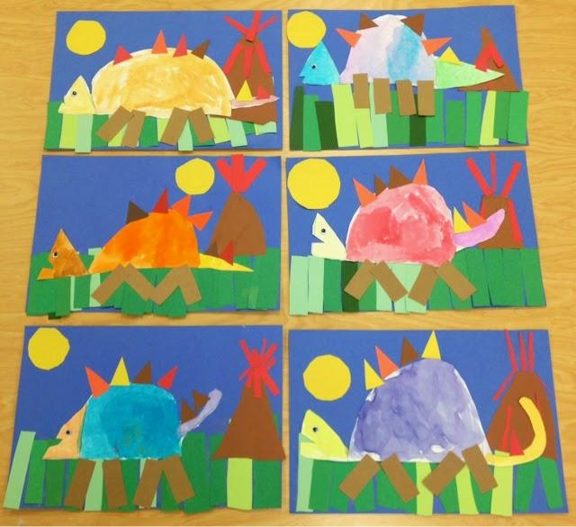 Art with mr giannetto kindergarten dinosaurs for Dinosaur crafts for preschool