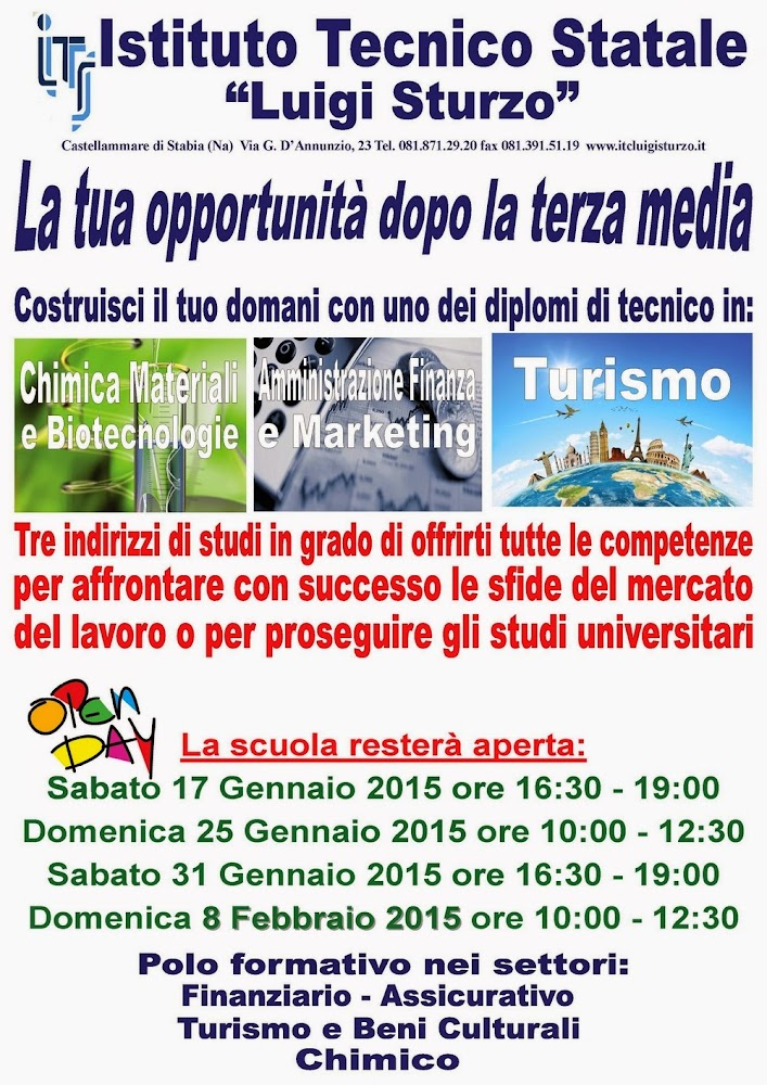Manifesto Open Day Sturzo