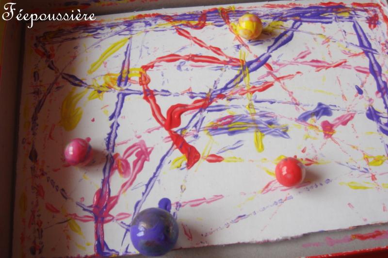 Et si on apprenait la maison peindre avec des billes - Peindre avec un pistolet a peinture ...