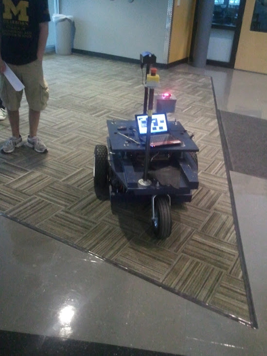 A remote controlled robot on the IAVS floor