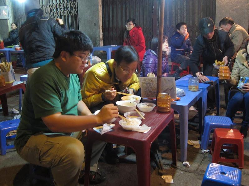 Sidewalk eatery in Vietnam
