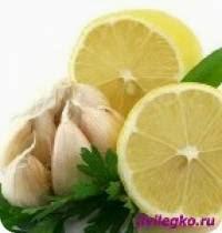Рецепты лимон и чеснок