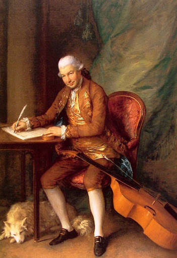 Karl Friedrich Abel, por Thomas Gainsborough