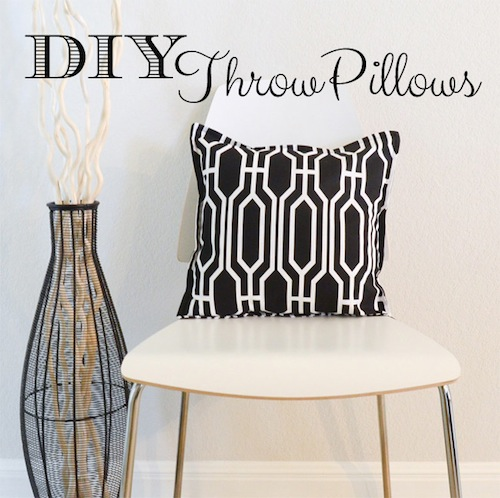 DIY Throw Pillows by The Seasoned Homemaker