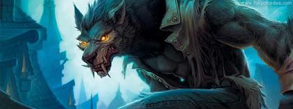 Portada para facebook de El hombre lobo