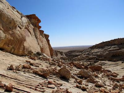 Bouldery slope