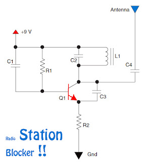 radio station blocker circuit and schematic