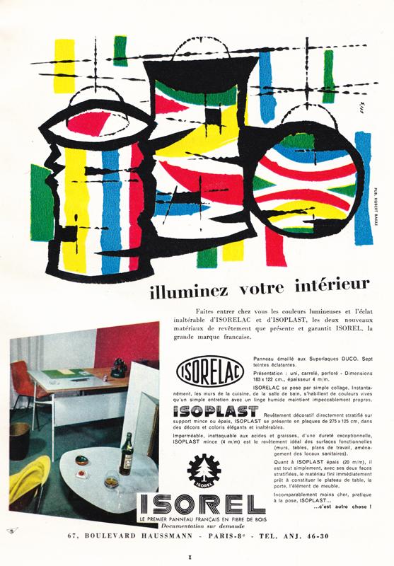 Publicité vintage : Illuminez votre intérieur (ISOREL / ISOPLAST) - Pour vous Madame, pour vous Monsieur, des publicités, illustrations et rédactionnels choisis avec amour dans des publications des années 50, 60 et 70. Popcards Factory vous offre des divertissements de qualité. Vous pouvez également nous retrouver sur www.popcards.fr et www.filmfix.fr