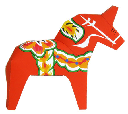 Dalecarlian Horse Papercraft