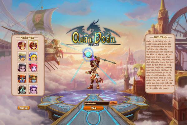 Quân Đoàn có mặt trên mạng chơi game Soha 2