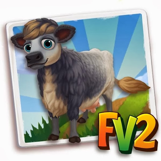 farmville 2 Blue Grey Cow