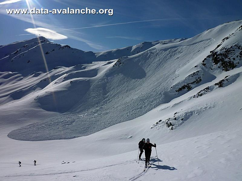 Avalanche Cerces, secteur Col du Chardonnet, Sous le lac de la Mine - Photo 1