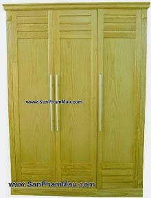 Tủ quần áo gỗ tự nhiên 3 cánh