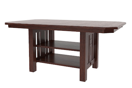 "54"" x 54"" Florence Island Table in Frontier Oak"