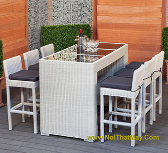 Outdoor Wicker Bar Set Minh Thy 818