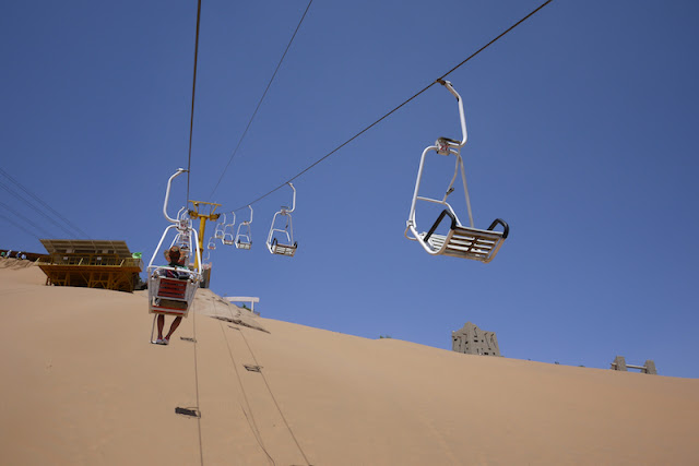 chair lift at Shapotou in Ningxia