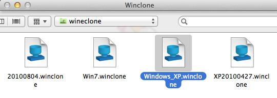 wincloneのバックアップファイル