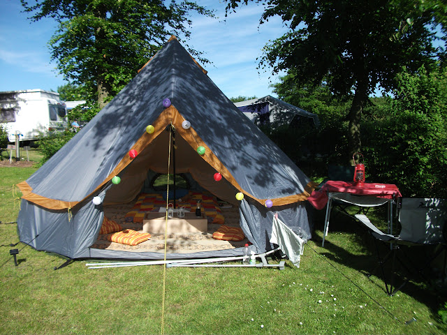 Kids where at their Dad and I enjoyed a wonderful weekend in my cheap nylon bell tent here in Denmark on the beautiful island of Funen! & First solo camping in 13 years! UKCampsite.co.uk Camping under ...