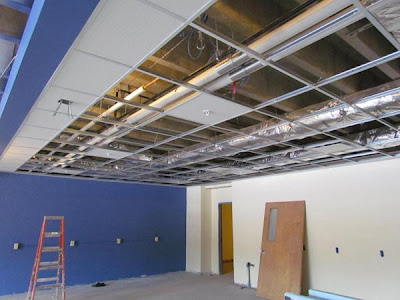 High School Lab Ceiling Installation Begins