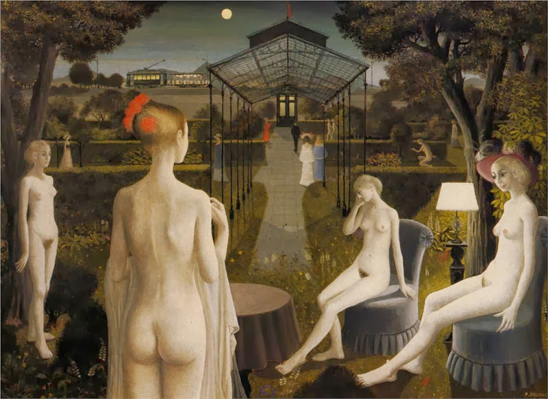 Paul Delvaux - The Garden, 1971