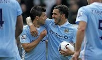 Goles manch city Aston villa [5-0] Video Aguero tevez 17 Nov