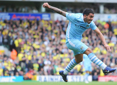 Carlos Tevez, Norwich - Manchester City