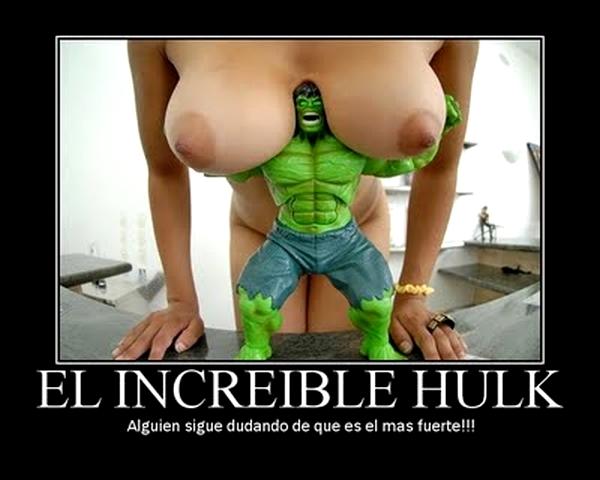 Hulk y dos tetas ·conlosochosentidos.es