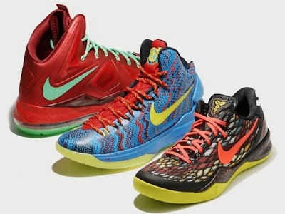 nike lebron 10 xx christmas pack 2 01 Throwback Thursday: Look Back at LBJs 2011 Christmas Shoes
