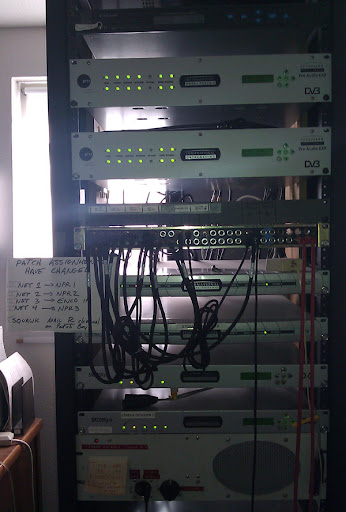 KUSP satellite rack