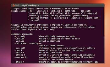 elenco opzioni calise in Ubuntu
