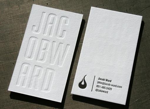 Jacob Ward business card