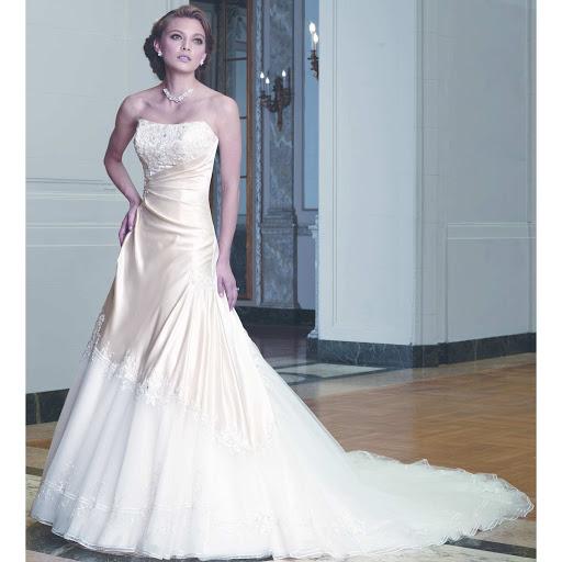 Romantik Hochzeit Kleider » Satin trägerlosen Hochzeit Kleider