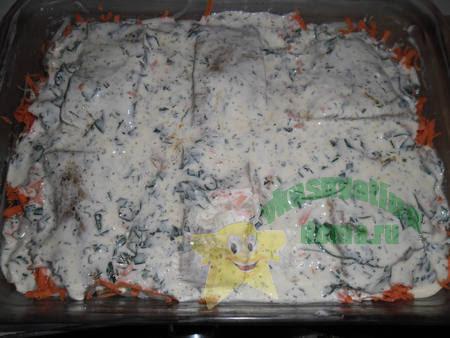 Приготовление филе рыбы запеченное в духовке с овощами