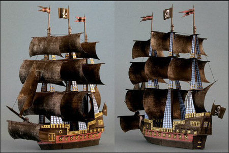 The Dark Promise Papercraft Sailing Ship