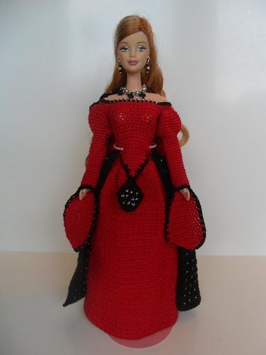 SAM 2005 - فساتين للعروسة باربي من الكروشية طريقة عمل ملابس لعرائس الاطفال بالكروشية