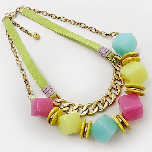Pastel Statement Necklace by Osofree Jewellery