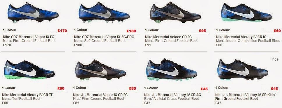 nike mercurial vapor ix cr7 the galaxy 2014 boot price