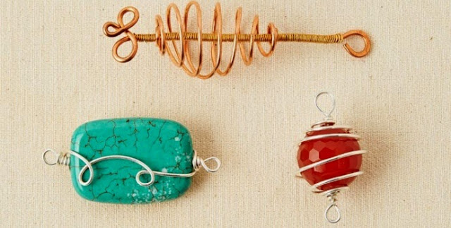 Wire-wrapped Beads and Focals by Debora Mauser