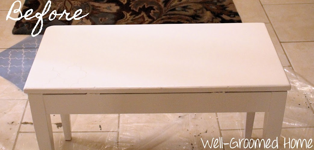 decorative pretty piano bench
