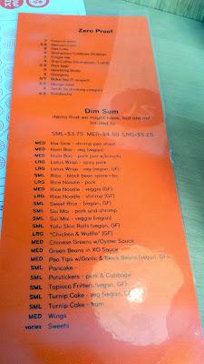 Menu at Boke Bowl dim sum at Boke Bowl West, only on Sat and Sun 11 - 2