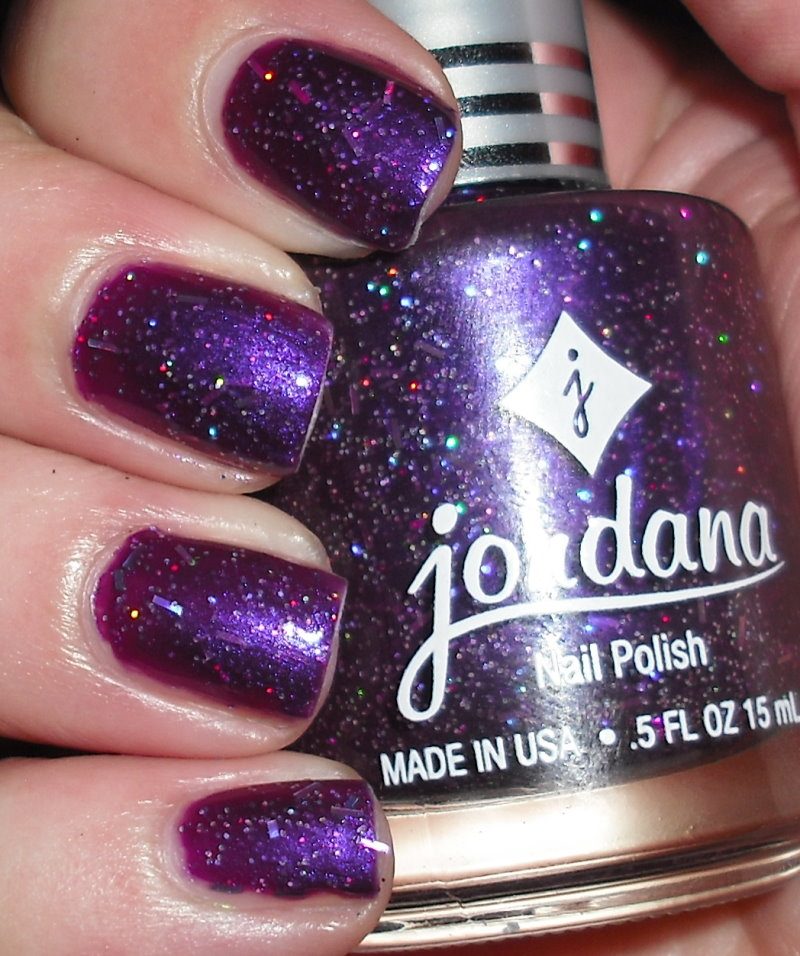Imperfectly Painted: Jordana Purple Glam--My Nail Polish Pet Peeve