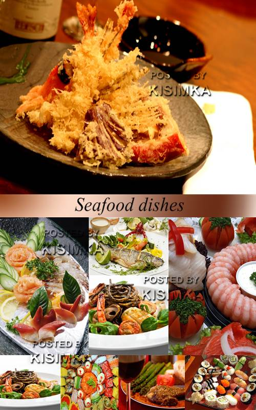 Stock Photo: Seafood dishes