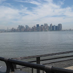 Over on Liberty Island.  Here's a view of Manhattan with the ESB in the distance.